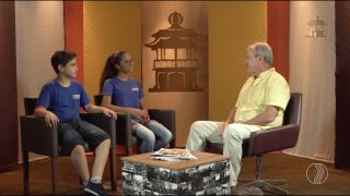 Adolescentes entrevistam Celso Machado