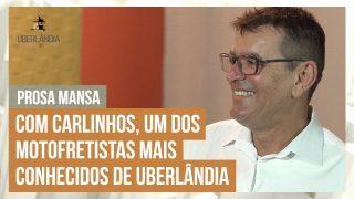 Celso Machado tem uma prosa mansa com Carlinhos, um dos motofretistas mais conhecidos de Uberlândia